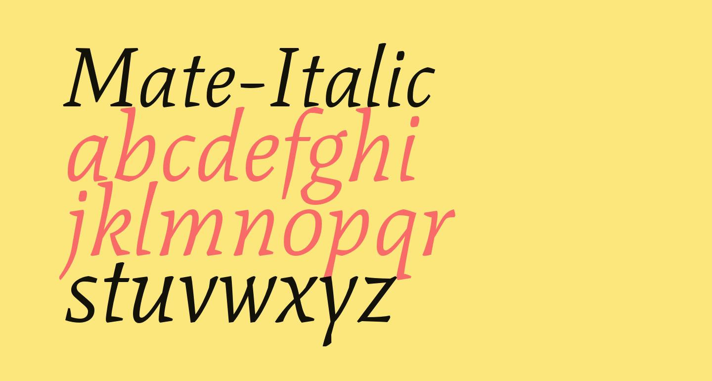Mate-Italic