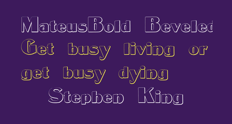 MateusBold Beveled