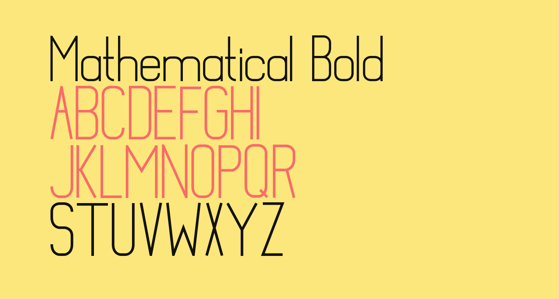 Mathematical Bold