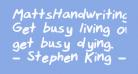 MattsHandwriting