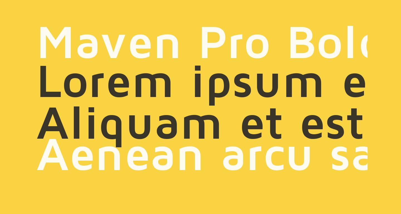 Maven Pro Bold