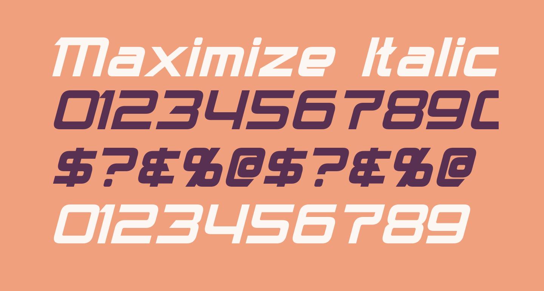 Maximize Italic