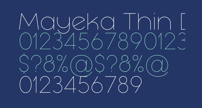 Mayeka Thin Demo