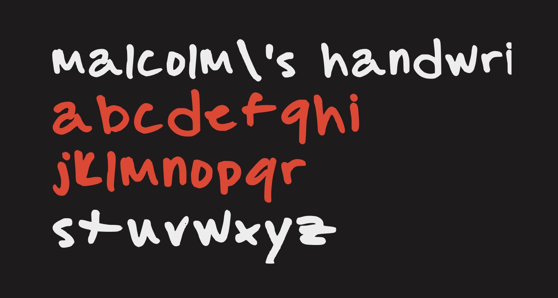 malcolm's handwriting Medium