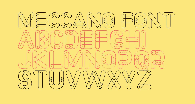 Meccano Font