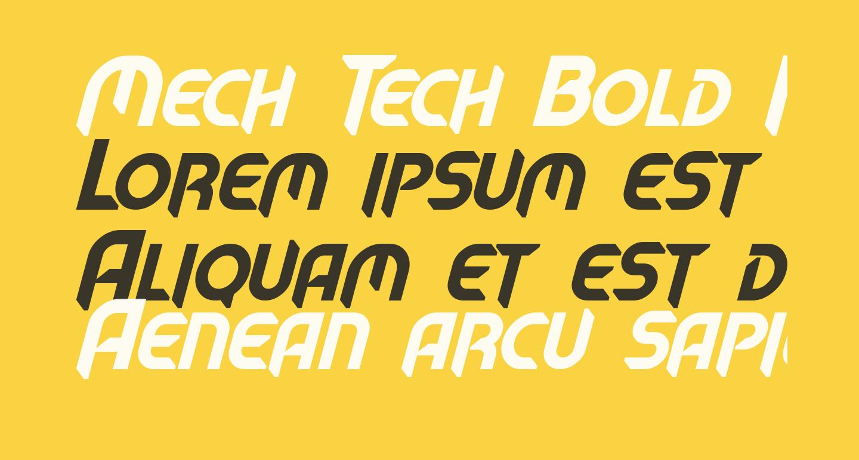 Mech Tech Bold Italic