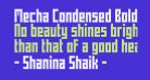Mecha Condensed Bold Regular