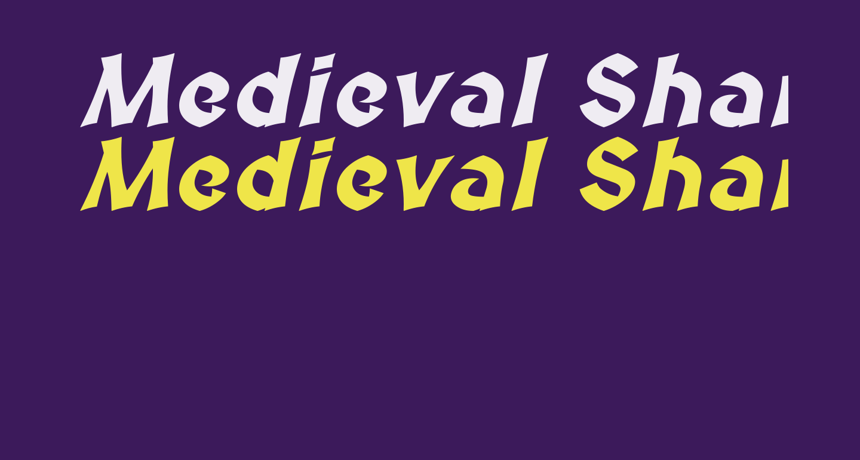 Medieval Sharp Bold Oblique