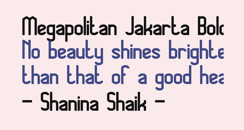 Megapolitan Jakarta Bold