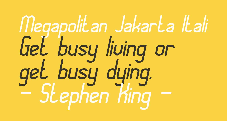 Megapolitan Jakarta Italic