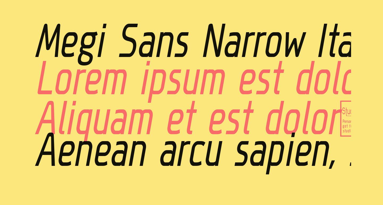 Megi Sans Narrow Italic