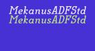 MekanusADFStd-BoldItalic