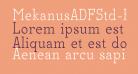 MekanusADFStd-Regular