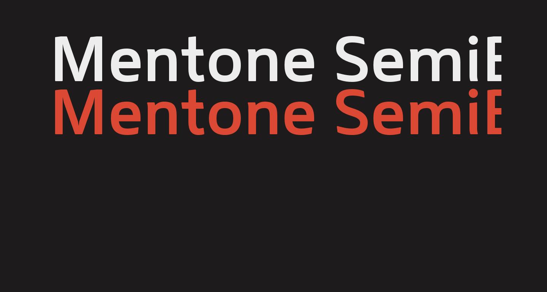 Mentone SemiBold