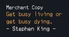 Merchant Copy