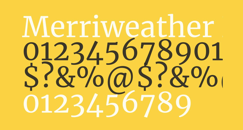 Merriweather Regular free Font - What Font Is