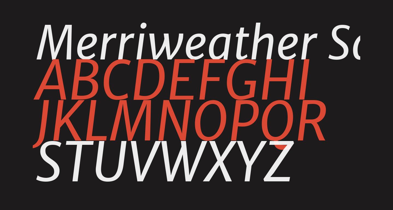 Merriweather Sans Italic
