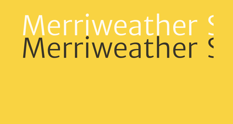 Merriweather Sans Light