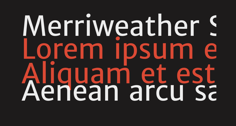 Merriweather Sans Regular