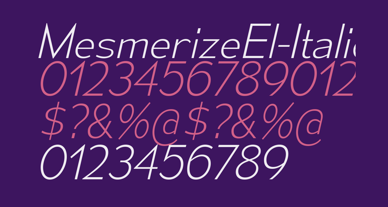 MesmerizeEl-Italic
