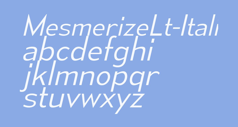 MesmerizeLt-Italic