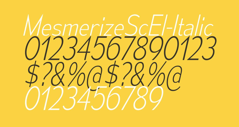 MesmerizeScEl-Italic
