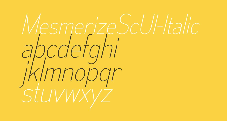 MesmerizeScUl-Italic