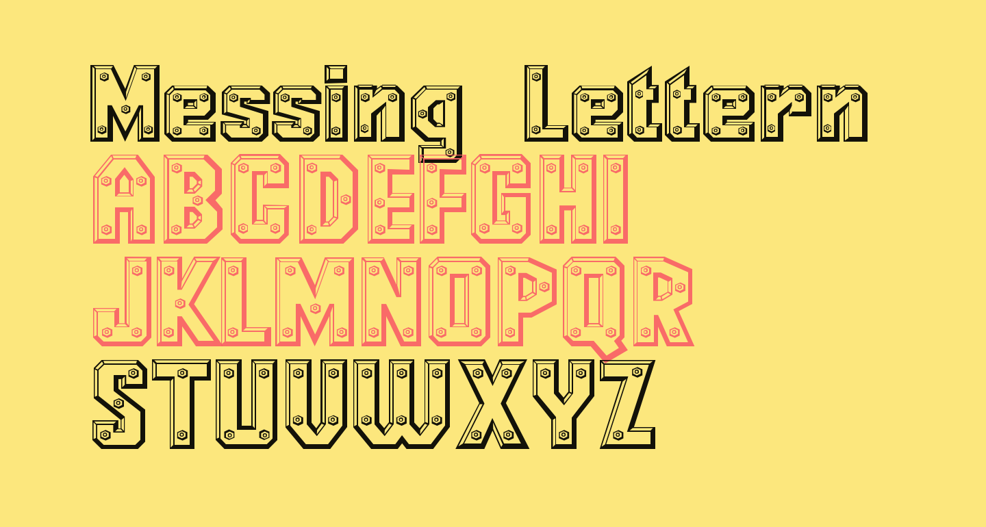 Messing Lettern