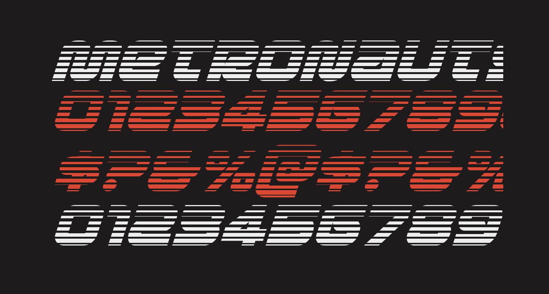 Metronauts Gradient Italic