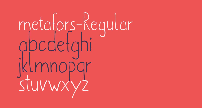 metafors-Regular