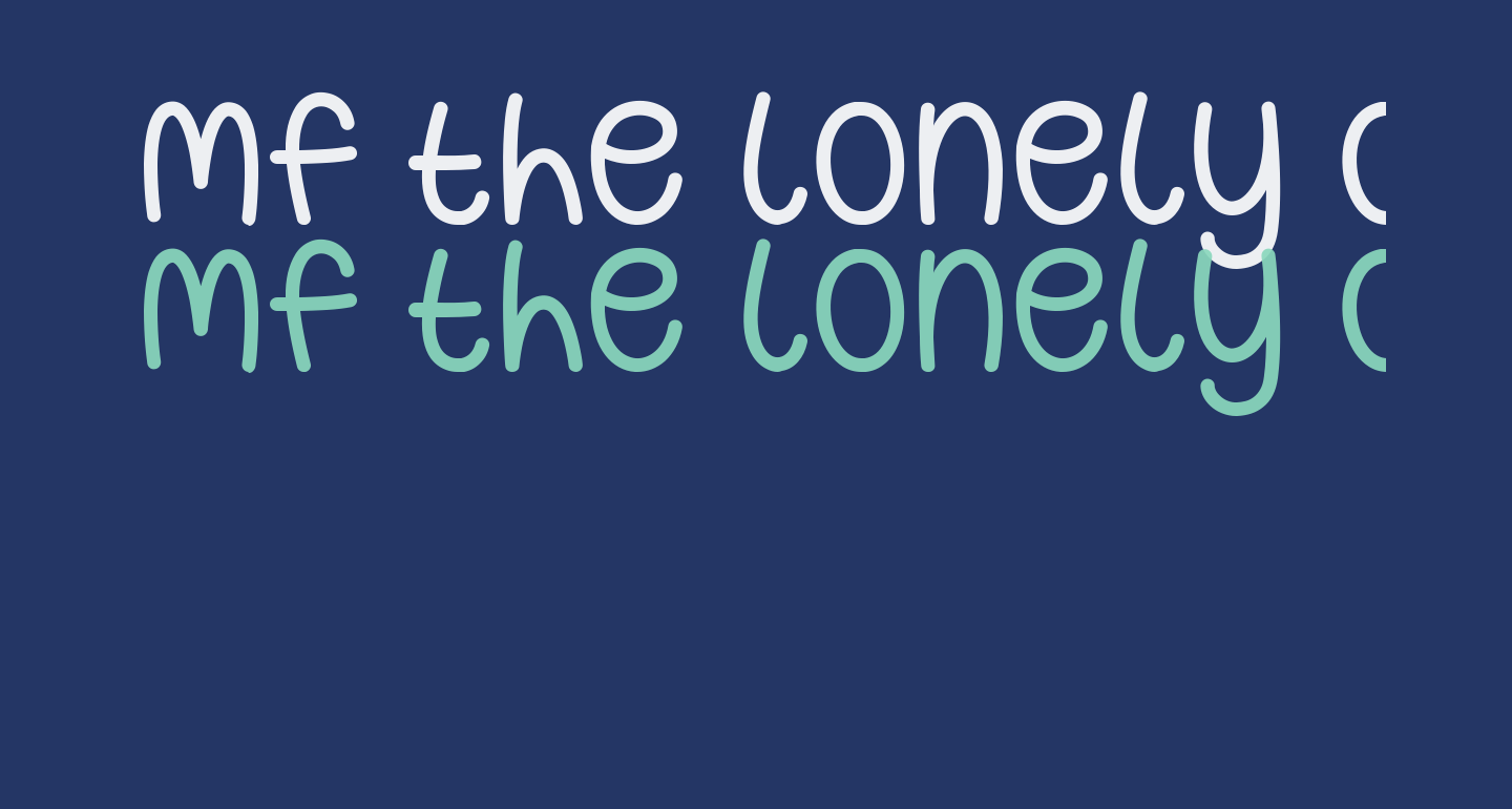 Mf The Lonely Ones