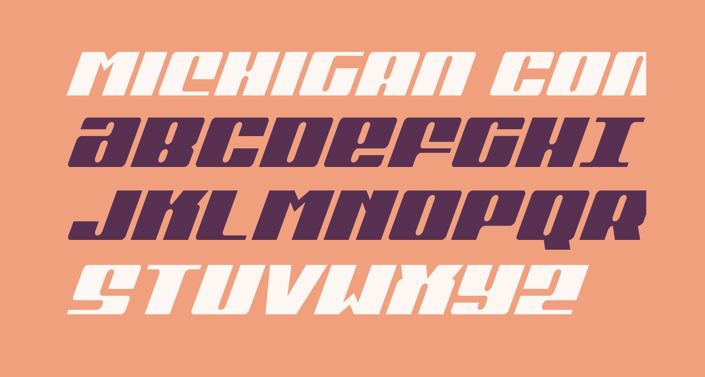 Michigan Condensed Italic