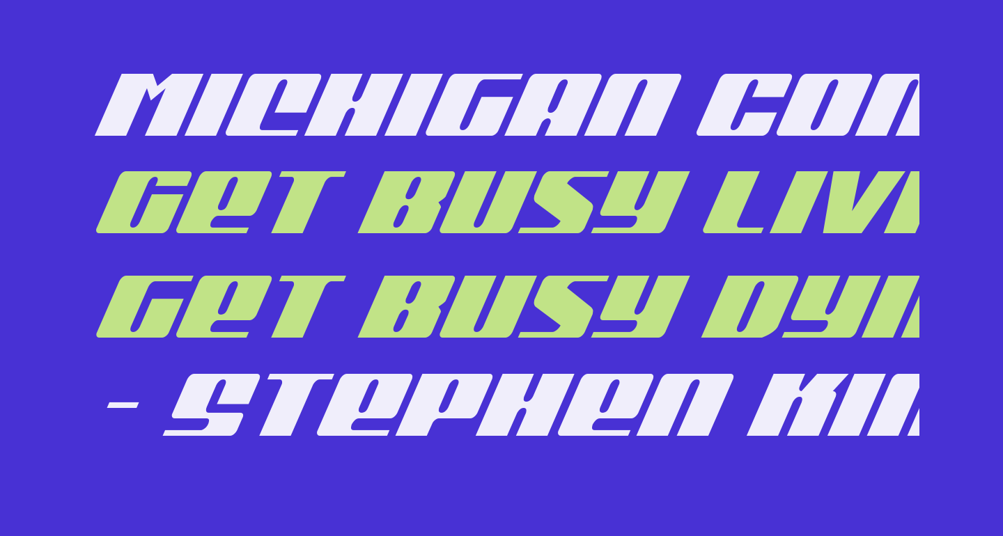 Michigan Condensed Super-Italic