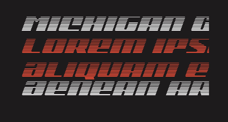 Michigan Gradient Italic