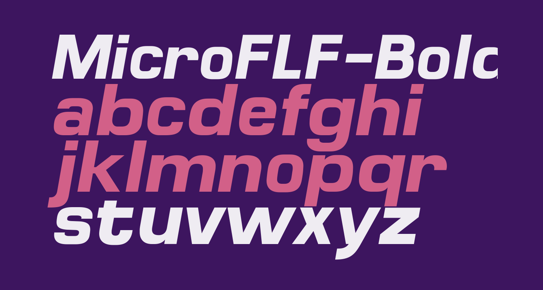 MicroFLF-BoldItalic