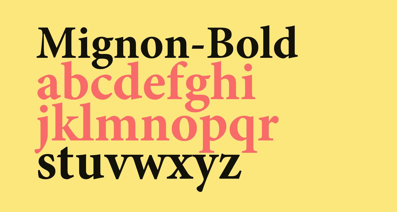 Mignon-Bold