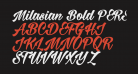 Milasian Bold PERSONAL