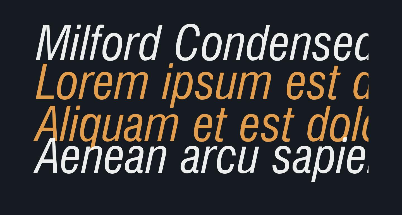 Milford Condensed Italic