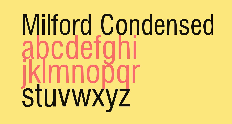 Milford Condensed