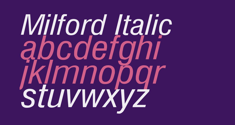 Milford Italic
