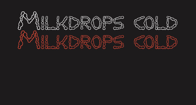 Milkdrops cold