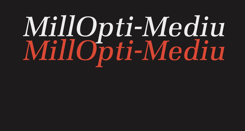 MillOpti-MediumItalic