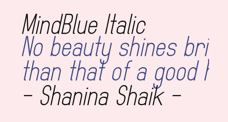 MindBlue Italic