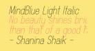 MindBlue Light Italic