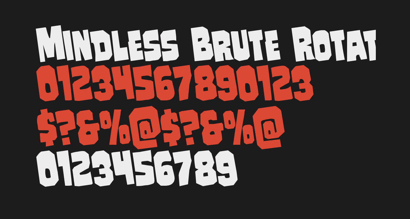 Mindless Brute Rotated