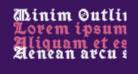Minim Outline ExtraBold