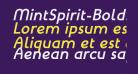 MintSpirit-BoldItalic