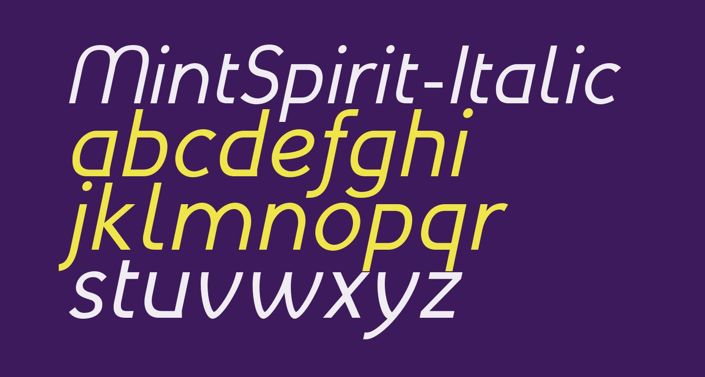 MintSpirit-Italic
