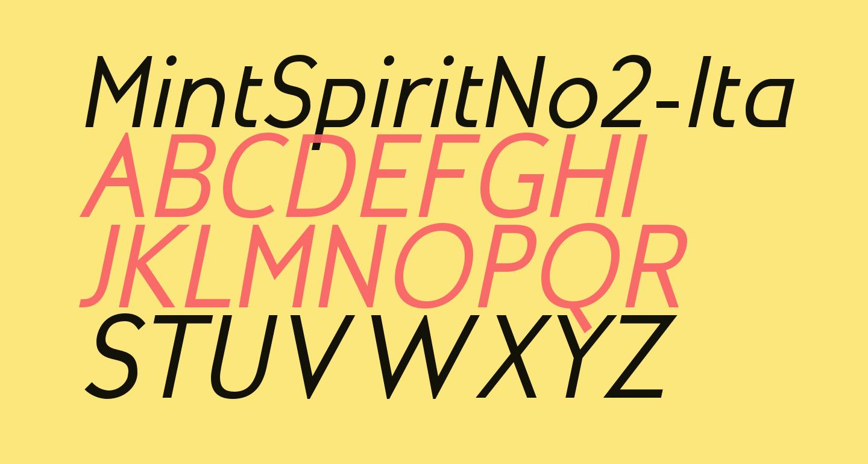 MintSpiritNo2-Italic