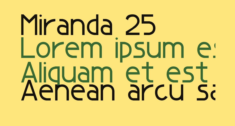 Miranda 25